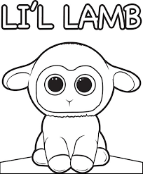Printable Coloring Page For Kids Of A Baby Lamb Cartoon