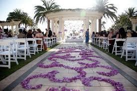 Purple Carpet In Beautiful Garden Wedding Ideas