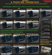 BDF Tandem Truck Pack V88.0 Mod For ETS 2