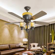 Ceiling Fan Uplight Bulbs by 48 Inches Ceiling Fan With Light 5 Wooden Leaves 3 E14 Bulbs For
