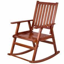 100 Unique Wooden Rocking Chair US 6499 35 OFFGiantex Wood Garden Single Porch Rocker Indoor Outdoor Rocker Patio Furniture HW56205in Garden S From Furniture