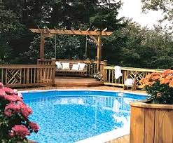 Above Ground Pool Deck Images by Above Ground Pool Landscaping Ideas Swimming Pool Landscape Pictures