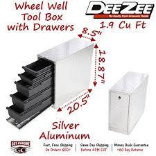 100 Truck Wheel Well Tool Box DZ 95DA Dee Zee With Drawers Aluminum Full