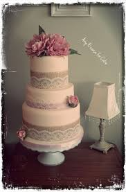 Vintage Style Rustic Wedding Cake By Any Excuse For