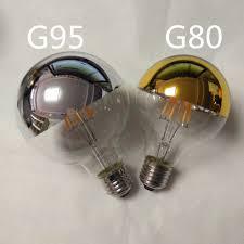 new products half mirror light bulb a60 g45 g125 6w e27 led half