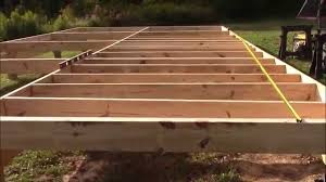 Distance Between Floor Joists by Installing My Cabin U0027s Floor Joists 16