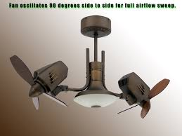 Small Oscillating Outdoor Ceiling Fan by Outdoor Dual Oscillating Ceiling Fan Caged Fans Industrial Style