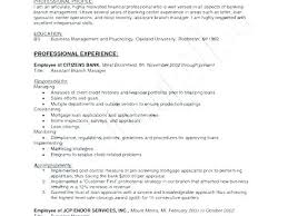 Bank Branch Manager Resume Credit Union Sample District