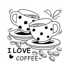 American Style I Love Coffee Wall Decal Cute Cup Sticker Kitchen Restaurant Vinyl Waterproof