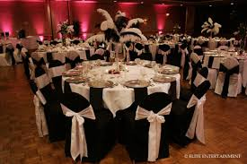 Black Chair Covers - Silver Sash - White Table | Weddings ...