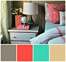 Coral And Turquoise Color Pallet For Bedroom