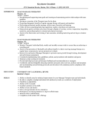 Download Lead Massage Therapist Resume Sample As Image File