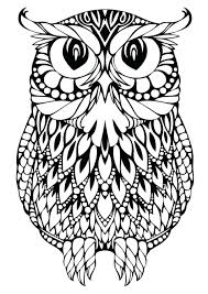 Coloring Pages Pictures For Adults Flowers Hard Online Zen Owl Patterns