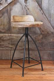 Industrial Style Bar Stools Rustic Oak White Counter With Backs Kitchen Island Swivel Upholstered