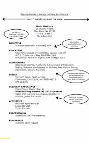 Culinary Resume Profile Examples Awesome Sample
