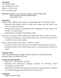 Resume For Students In College With No Experience Examples
