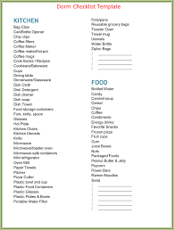 Kitchen Checklist For New Apartment Template