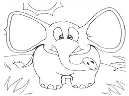 Elmer Coloring Page Patchwork Elephant