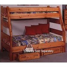 Cinnamon Rustic Pine Twin over Full Bunk Bed Palomino