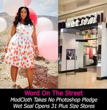 word on the street modcloth takes a no photoshop pledge wet seal