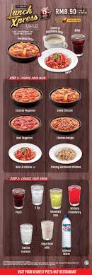 Pizza Hut Lunch Xpress Menu RM8.90 (Up To RM12 Discount ... Pizza Hut Latest Deals Lahore Mlb Tv Coupons 2018 July Uk Netflix In Karachi April Nagoya Arlington Page 7 List Of Hut Related Sales Deals Promotions Canada Offers Save 50 Off Large Pizzas Is Offering Buygetone Free This Week Online Code Black Friday Huts Buy One Get Free Promo Until Dec 20 2017 Fright Night West Palm Beach Coupon Codes Entire Meal Home Facebook Malaysia Coupon Code 30 April 2016 Dine Stores Carry Republic Tea