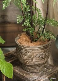 grosse keramik blumentopf für den garten oder wohnzimmer