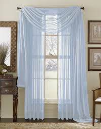amazon com light blue 216 sheer window scarf home kitchen