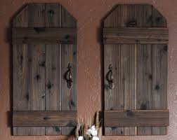 Rustic Barn Wood Doors Mini Shutters Wall Decor