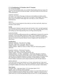 Qualifications On A Cv Part Time Job Sample Resume All Also Stibera Resumes