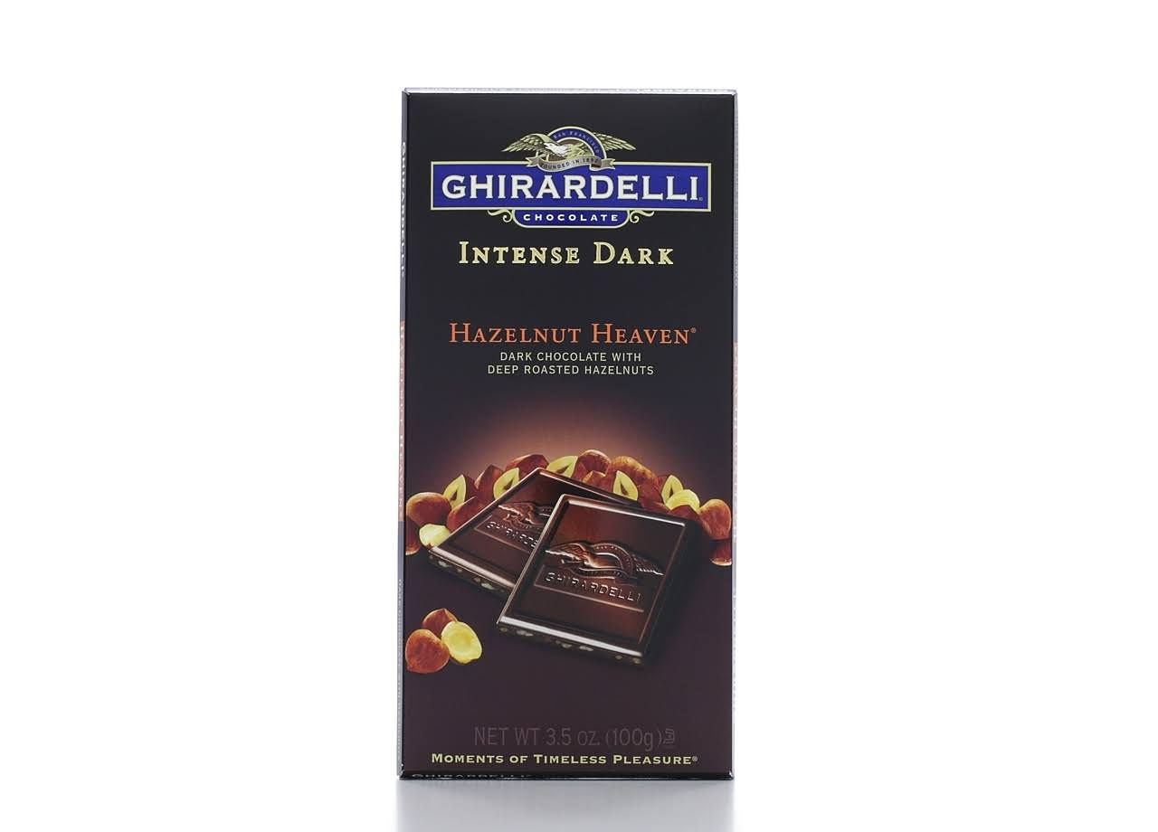 Ghirardelli Intense Dark Hazelnut Heaven Chocolate Bar - 3.5oz