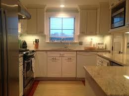 white glass subway tile kitchen backsplash sky blue glass subway