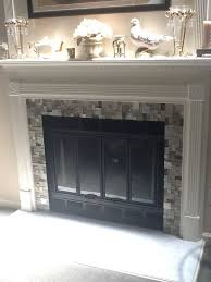 best 25 glass tile fireplace ideas on white mantle