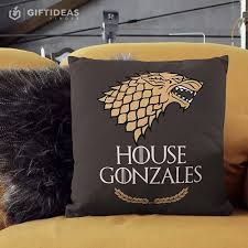 Game Of Thrones Pillow Personalized Gifts House Stark