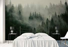 wald nebel natur vlies fototapete fw 1116 tapete ebay