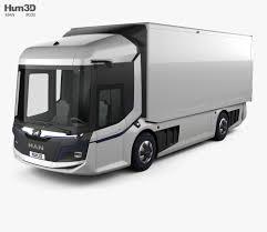 100 Black Truck Box MAN CitE 2018 3D Model Vehicles On Hum3D
