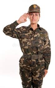 Download Female Soldier Salute Stock Photo Image Of Patriotic