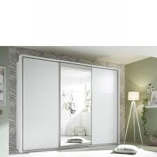 schwebetürenschrank bravo 270x210x60 cm weiß spiegel schlafzimmer stauraum