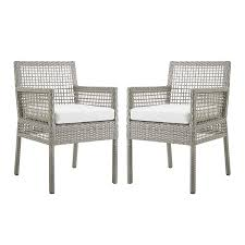 Modway EEI-3561-GRY-WHI Aura Dining Armchair Outdoor Patio Wicker Rattan  Set Of 2, Two, Gray White Bainbridge Ding Arm Chair Montecito 25011 Gray All Weather Wicker Solano Outdoor Patio Armchair Endeavor Rattan Mexico 7 Piece Setting With Chairs Source Chloe Espresso White Sc2207163ewesp Streeter Synthetic Obi With Teak Legs Outsunny Coffee Brown 2pack Modway Eei3561grywhi Aura Set Of 2 Two Hampton Pebble