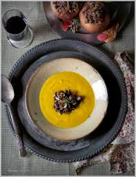 Cinderella Pumpkin Seeds Australia by Roasted Cinderella Pumpkin Soup With Rosemary And Wild Mushroom