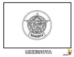 Minnesota Flag For Coloring At YesColoring
