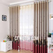 brown and red cute fabric thick children room mickey mouse curtains