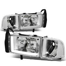 94-01 Dodge RAM Truck 1500 2500 3500 Chrome Housing Clear Corner LED ... 2009 Dodge Ram Truck 1500 Headlight Protection Film Lampgard Bixenon Projector Retrofit Kit 2013 High Performance 1318 Ram Upgrade Harness Gen5diy For 092018 2500 3500 Led Tube Black Upgrades Anzo Halo Headlights Truckin Oracle 0205 Colorshift Rings Bulbs Smoked Recon Complete Custom Led Pods Headlights Page 2 Dodge Forum 1417 How To Lift Your Laws For Jeep Browning