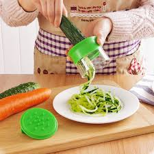 New Vegetable Spiralizer Handheld Spiral Cutter Grater Carrot Slicer Spaghetti Pasta Julienne Peeler Kitchen Cooking Tools