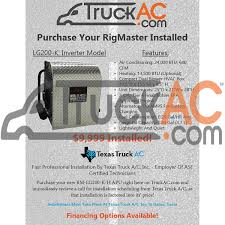 100 Truck Apu Prices Air Conditioning Parts From APU RigMaster LG200KH