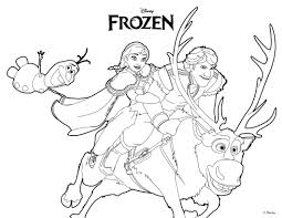 Coloring Page About Frozen Disney Movie Beautiful Drawing Of Ana Olaf Kristoff