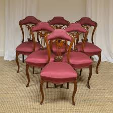 Unusual Set Of Six Victorian Walnut Art Nouveau Dining Chairs ... Set Of 4 Quality Art Nouveau Golden Oak High Slat Back Ding Chairs 554 Art Nouveau Ding Table And Chairs 3d Model Vintage 6 Antique French 1900 Walnut Nailhead Set 8 Edwardian Satinwood Beech Four Art Nouveau Louis Majorelle Ding Chairs Jan 16 2019 Room And Sale Mid Century Hand Made Game By Terry Bostwick Casa Padrino Luxury Dark Brown Cream 51 X Round In The Unique Timeless Tufted Armchair Chair Blue Velvet Navy 1900s Vinterior
