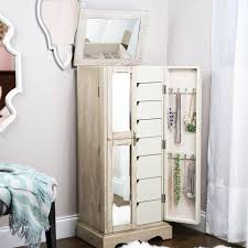 Chelsea Jewelry Armoire ~ Taupe Mist   Hives And Honey Double Honey For Chelsea Jewelry Armoire Grey Mist Hives Hayneedle Madison And Landry Dark Walnut Celine Espresso Armoires Cabinets Sears Interior Honey Jewelry Armoire Faedaworkscom Trinity Mirrfront Cheval Morgan
