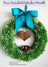 DIY Faux Succulent Pistachio Wreath