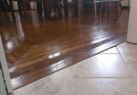 Laminate Floor Transitions To Tiles by The War Between The Floors How One Diy Er Battled A Transition
