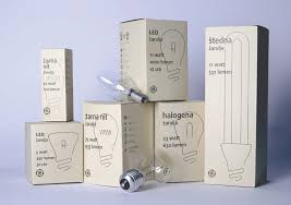 ge eco friendly light bulbs on packaging of the world creative